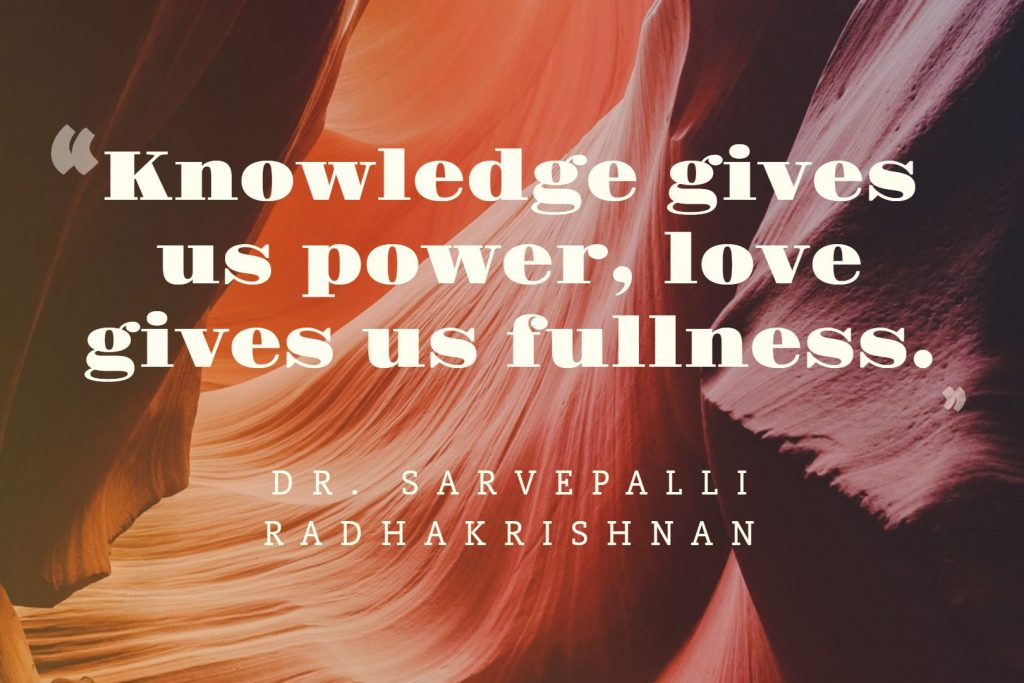 Sarvepalli-Radhakrishnan-with-inspiring-quotes